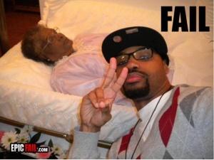 Funeral selfie bbad