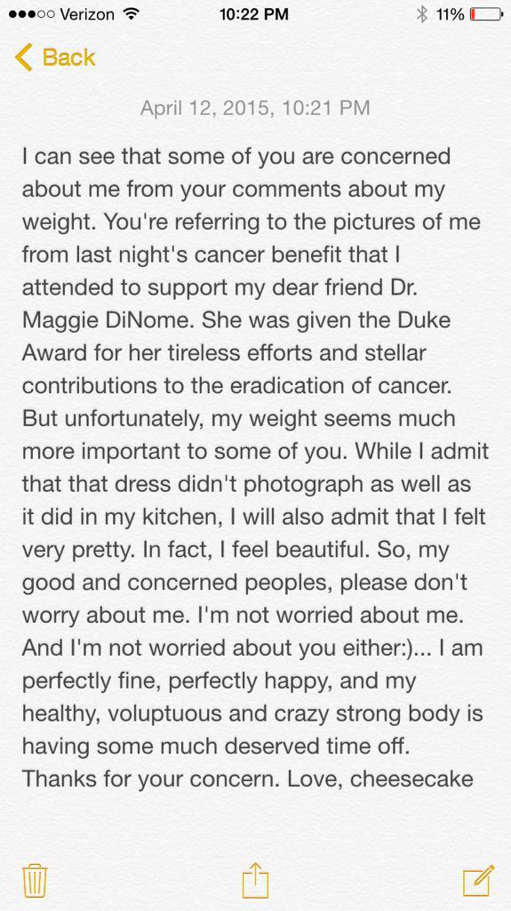 Pinks statement